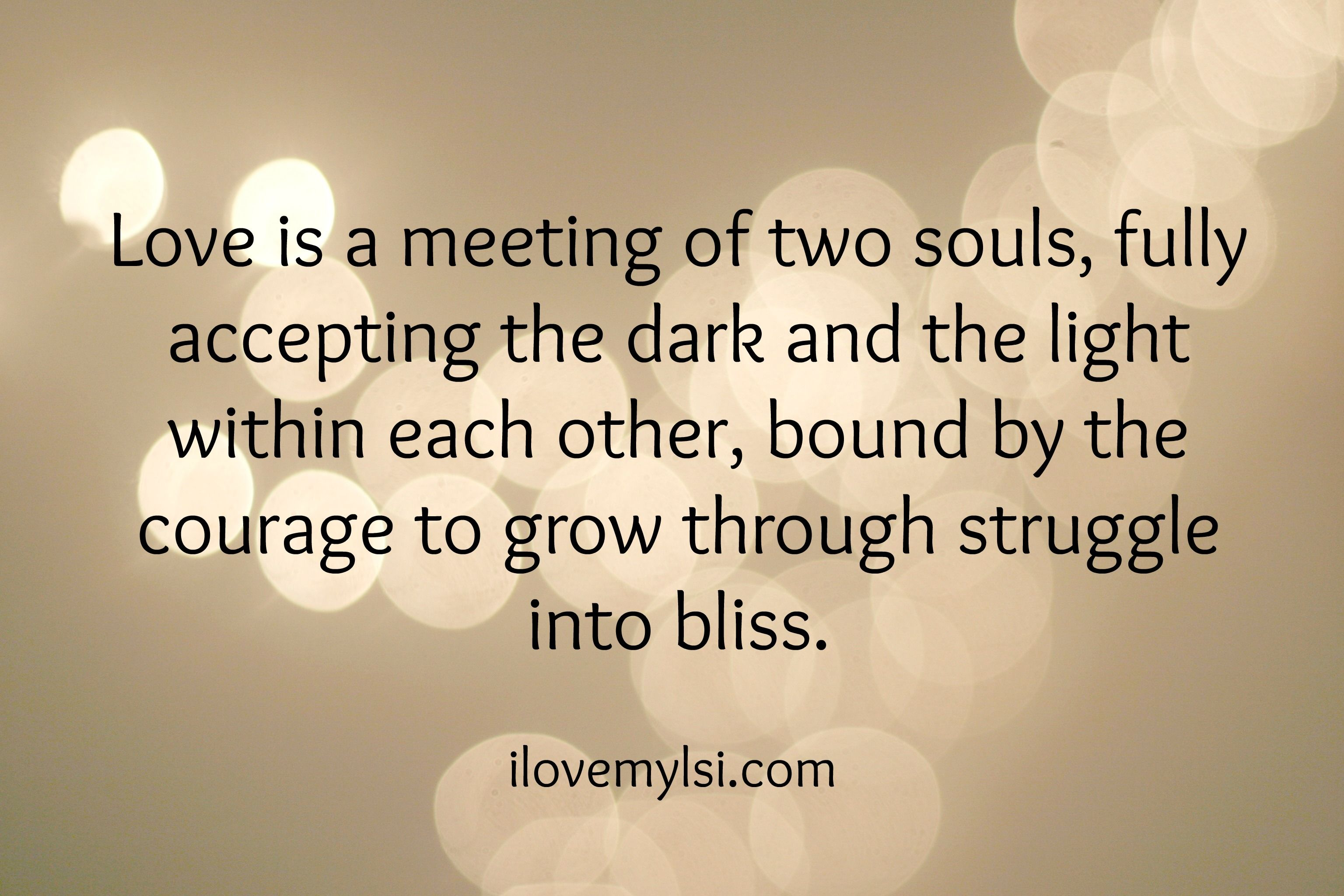 Love is a meeting of two souls love quotes Pinterest