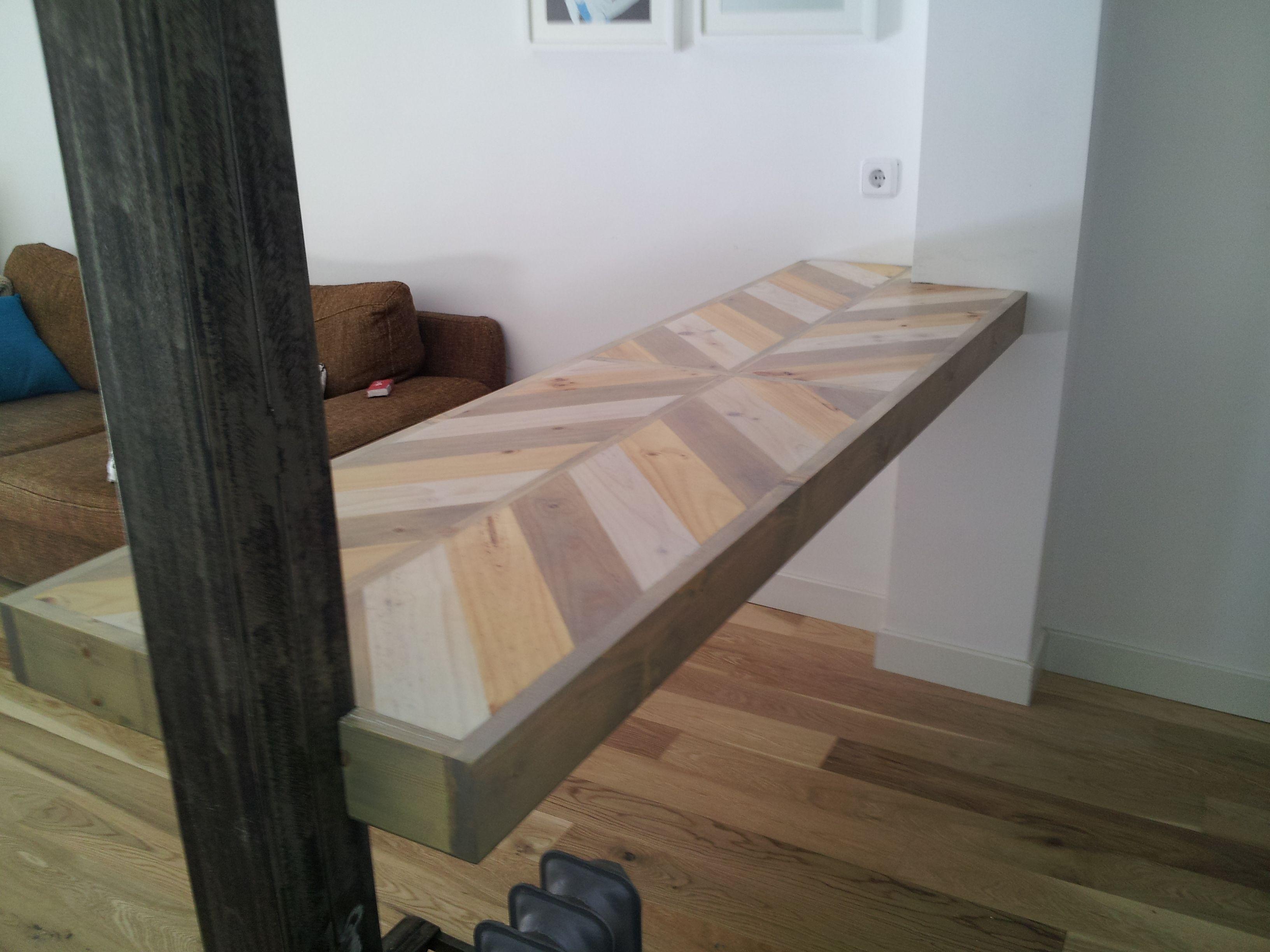 BARRA COCINA Realizada con madera reciclada ,formando este bonito ...