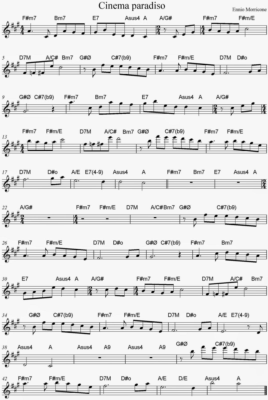 Partitura de cinema paradiso con acordes sheet music and chords partitura de cinema paradiso con acordes sheet music and chords mais hexwebz Image collections