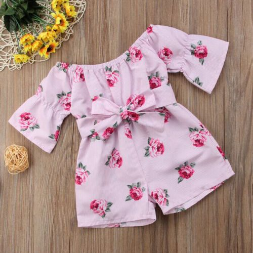 Short Pants Outfit Clothes US Toddler Kids Baby Girl Summer Floral Tops T-shirt