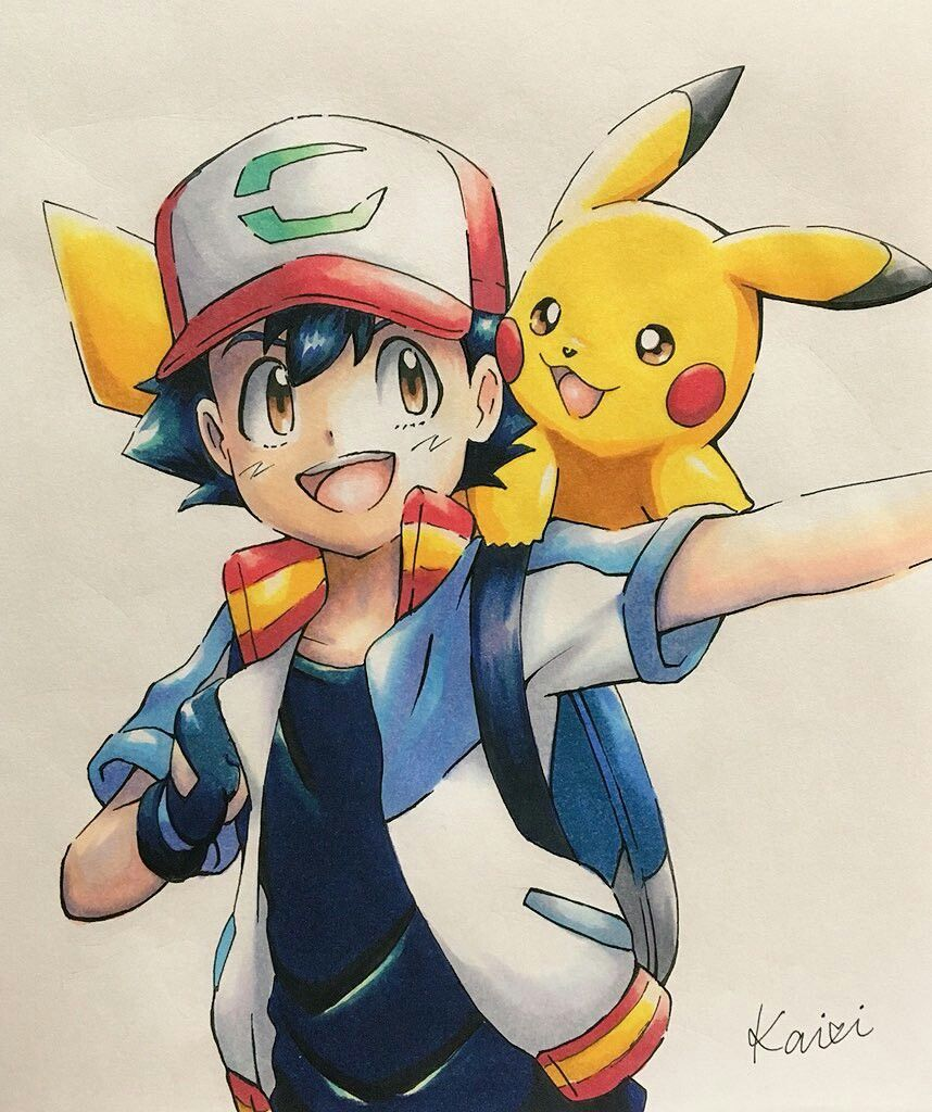 Ash X Pikachu Pokemon Pikachu Drawing Cute Pokemon Wallpaper Pikachu Art
