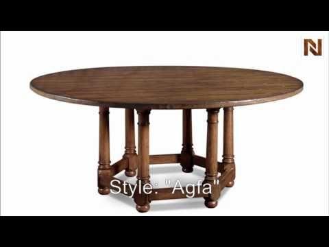 Bernhardt Vintage Patina Round Dining Table 72 Inch 322 275