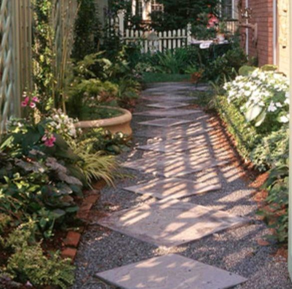 ways to lay stones narrow garden side yard landscaping on magnificent garden walkways ideas for unique outdoor setting id=51257