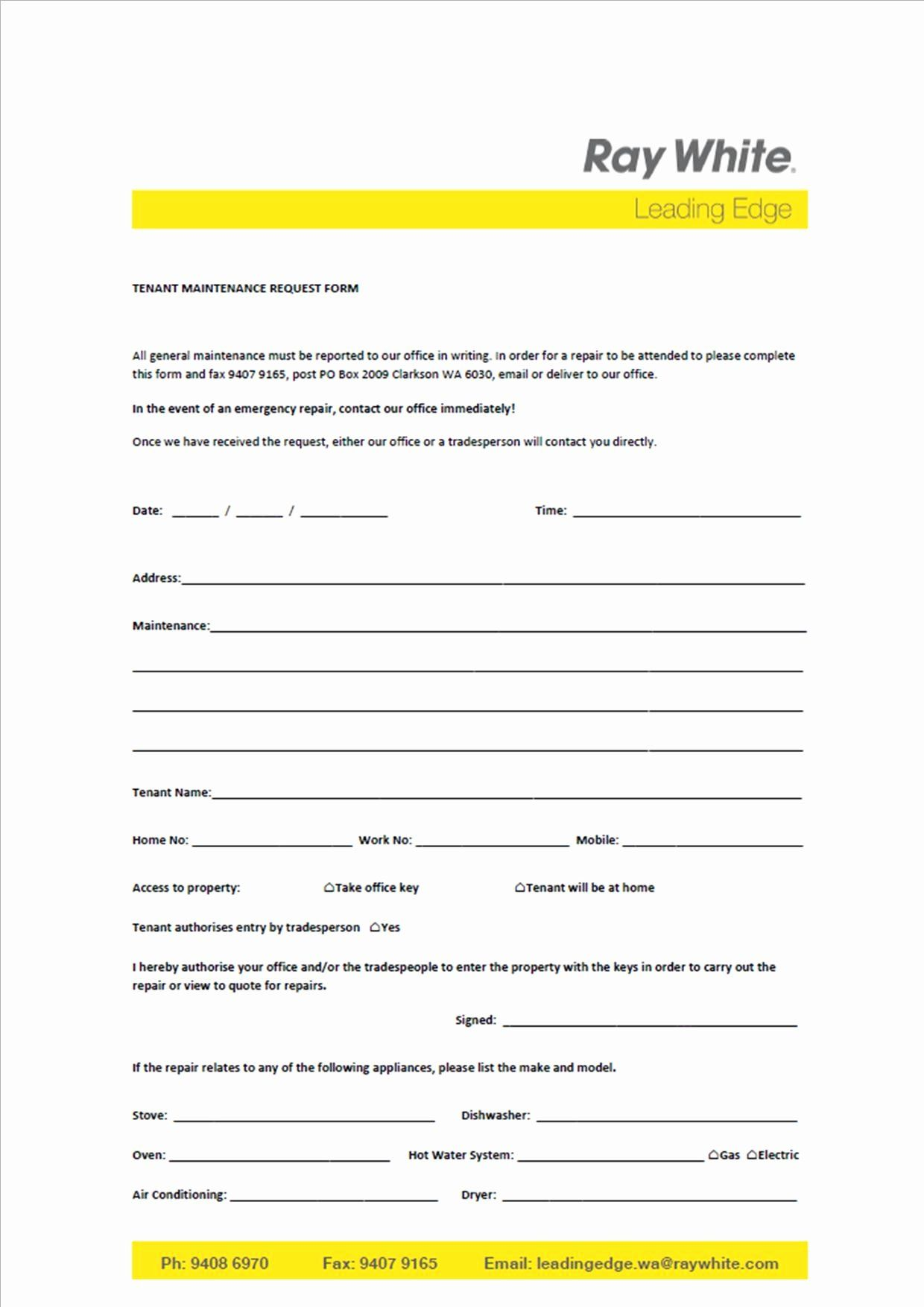 Tenant Maintenance Request Form Template Best Of Sample I Follow Up Letter To Landlord With Separation Agreement Template Marketing Strategy Template Templates