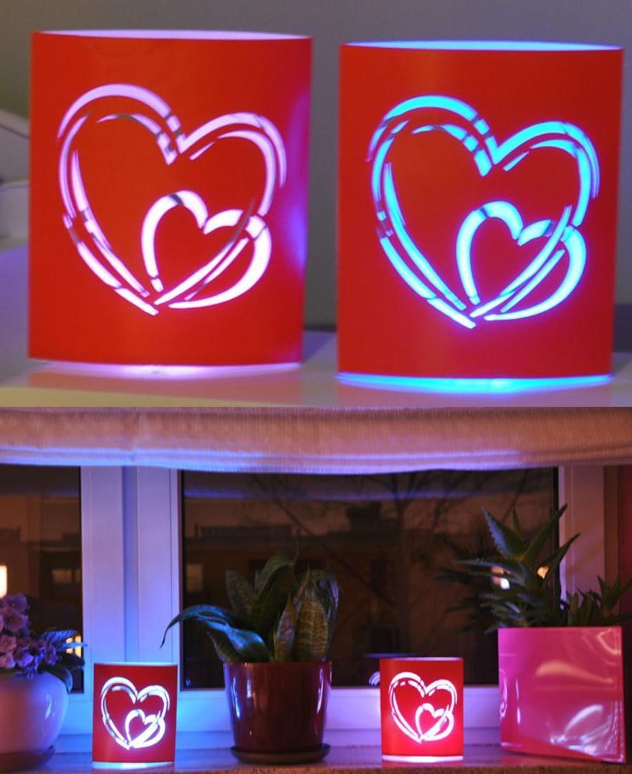 Led Lantern · Valntineu0027s Day LED Lantern, Night Lamp, Heart Shape ...