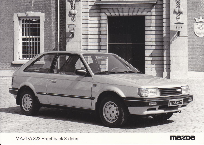 Vintage Car Wash Dallas: Mazda 323 Hatchback 3-Door (NL, August 1985)