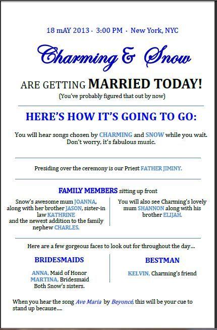 diy order of service wedding program wedding blue diy order of