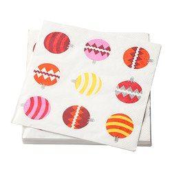 SNÖFINT paperilautasliina, pallo Pituus: 33 cm Leveys: 33 cm Kappaletta pakkauksessa: 30 kpl