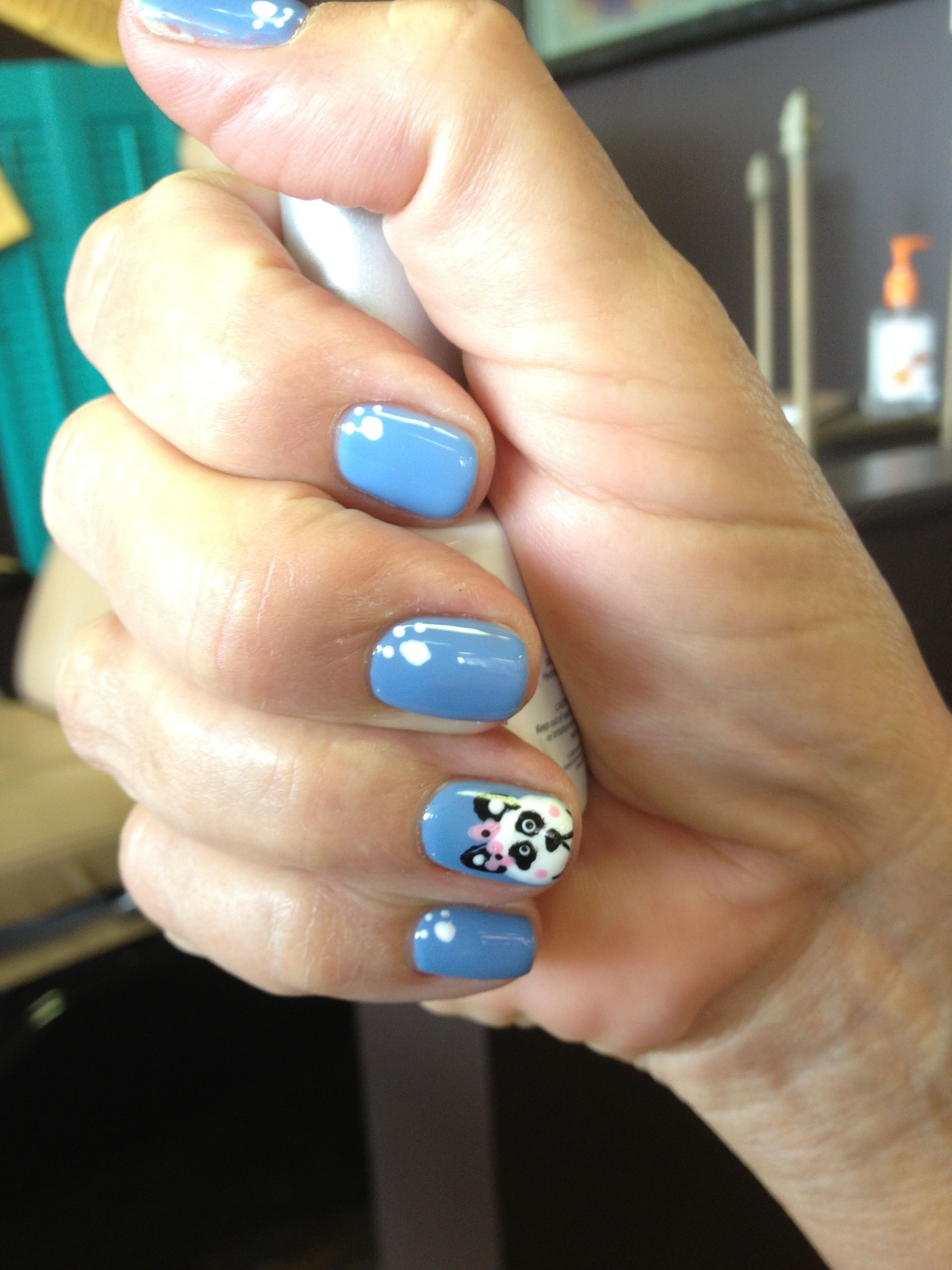 Cute Fun Panda Nail Art With Gelish Summer Fun Nails