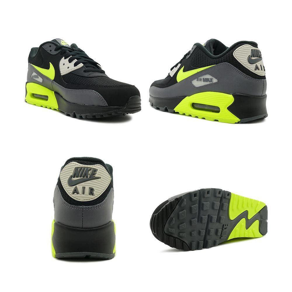 buy good fashion style 50% price Details about Nike Air Max 90 Essential Dark Grey Volt Black ...