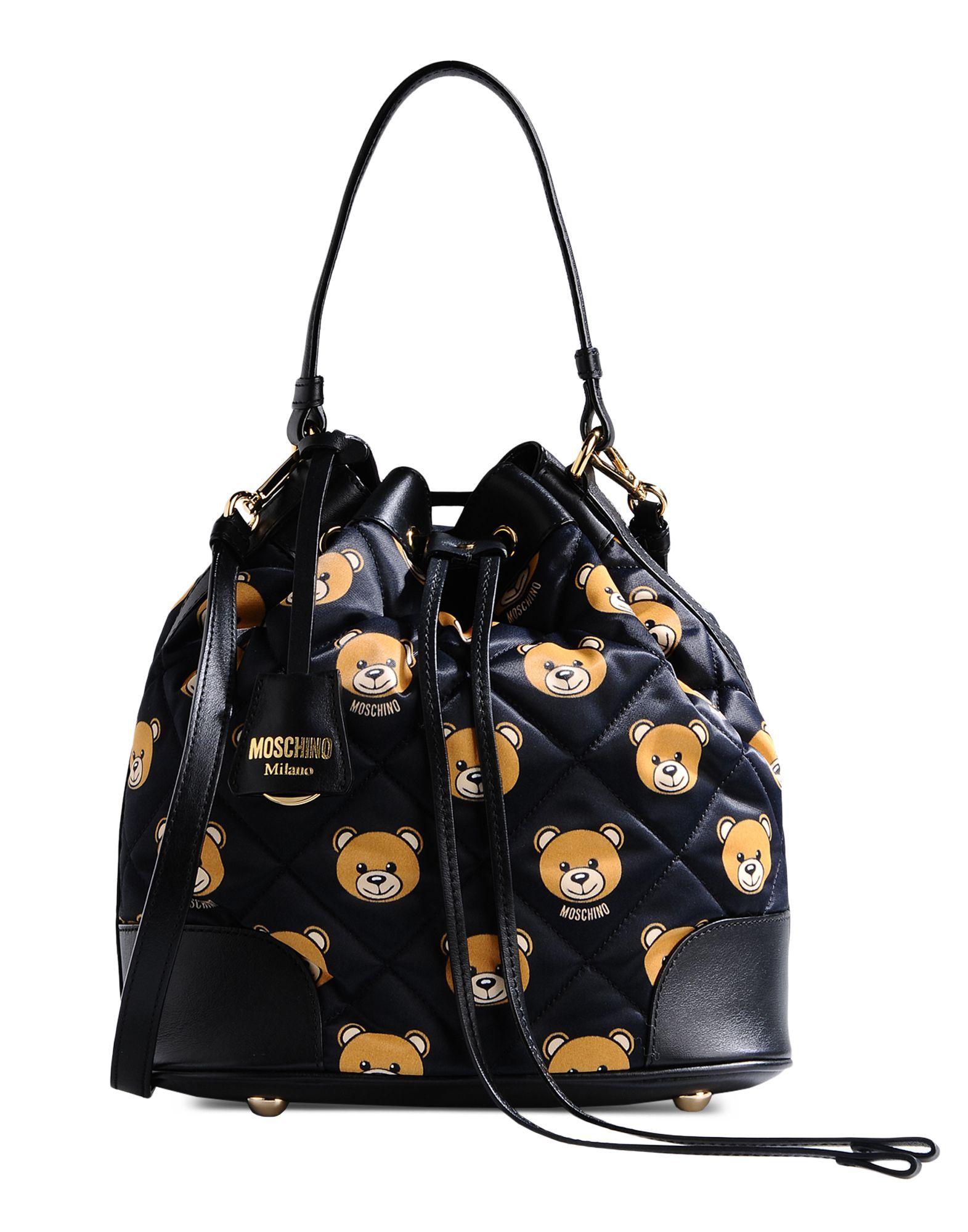 Moschino Medium Fabric Bag in Black | Lyst