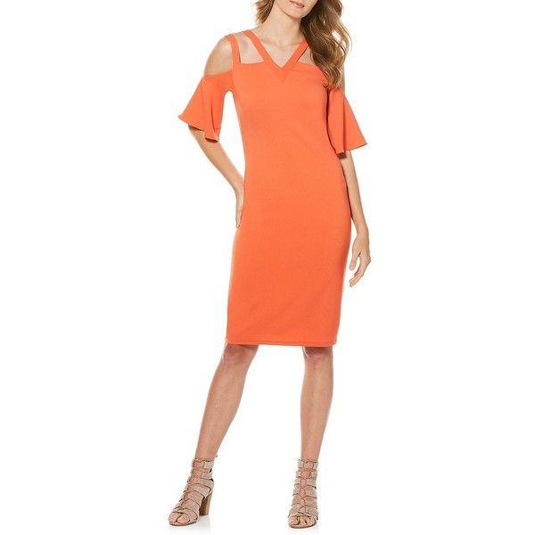 Laundry By Shelli Segal Women S Cold Shoulder Sheath Dress 159