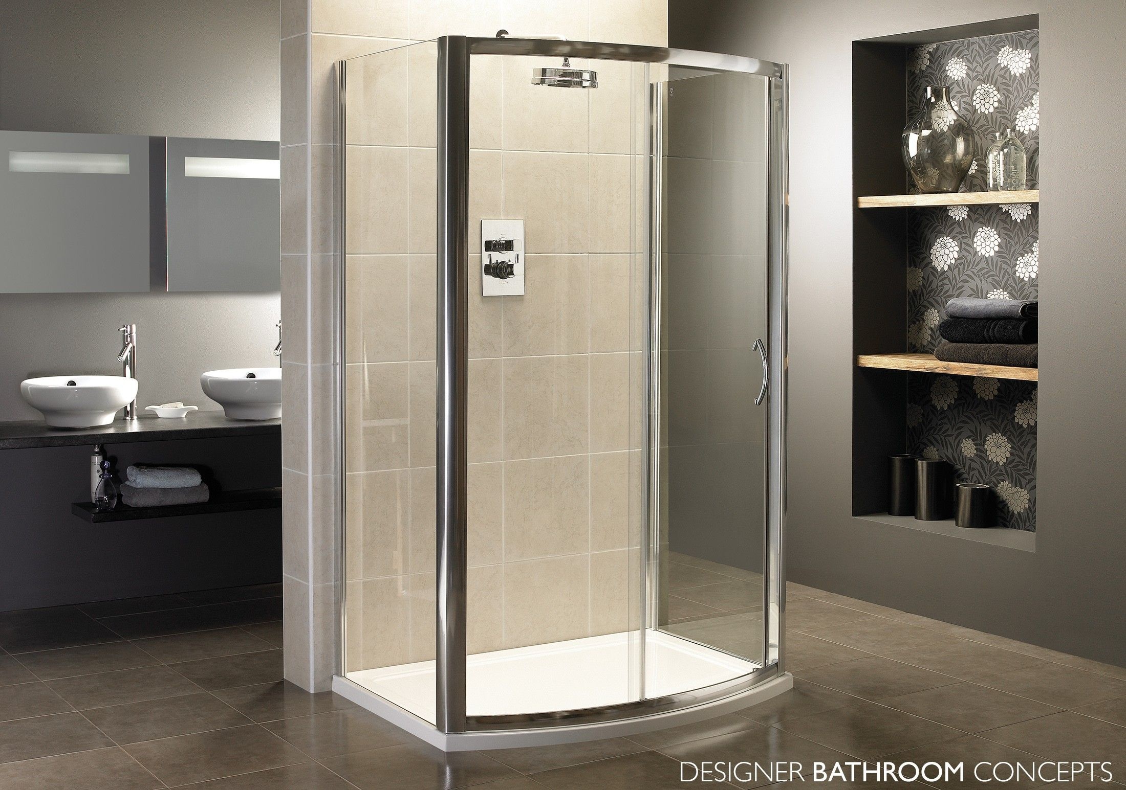 Identiti Designer Bow Sliding Door Shower Enclosure From Designerbathroomconcepts Com Shower Enclosure Shower Cubicles Sliding Shower Door