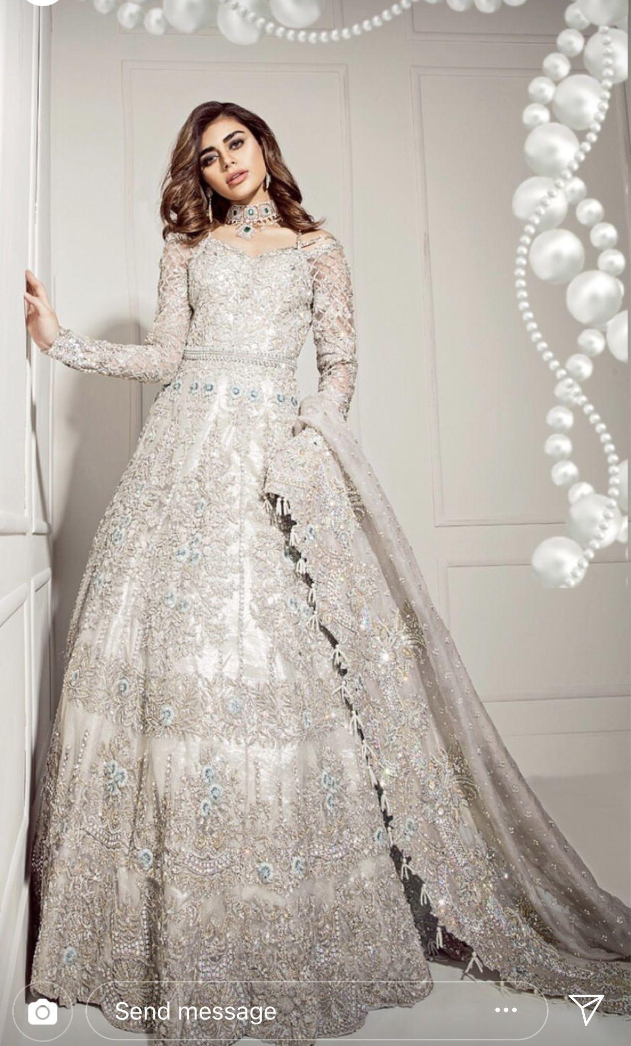 Pakistani Wedding Pakistani Fashion Ivory Wedding Dress