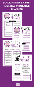Black Friday And Cyber Monday Printable Planner In 2020 Printable Planner Cyber Monday Printable Planner Printables Free