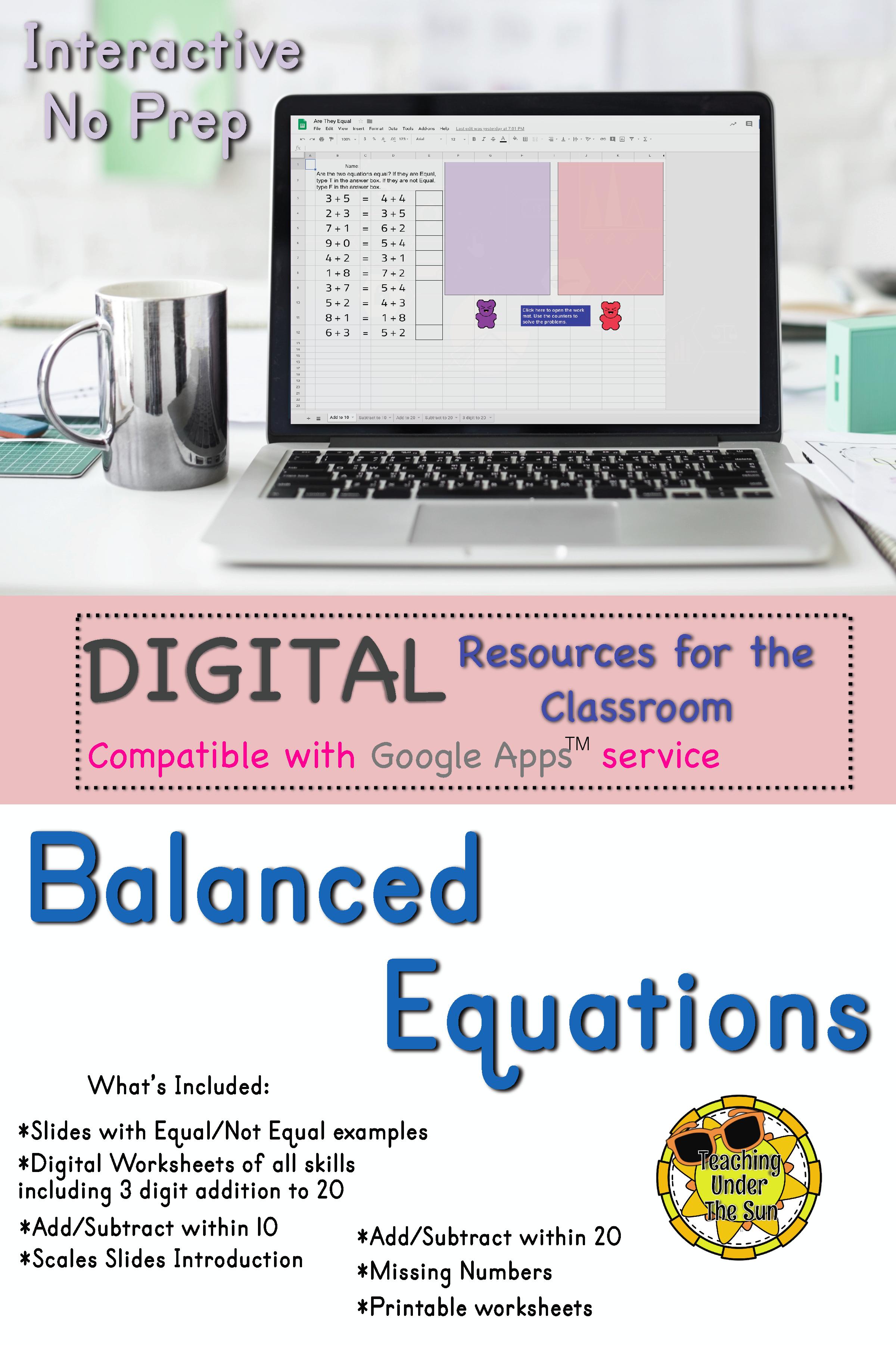 small resolution of Balance Equation and Equal Equation Digital