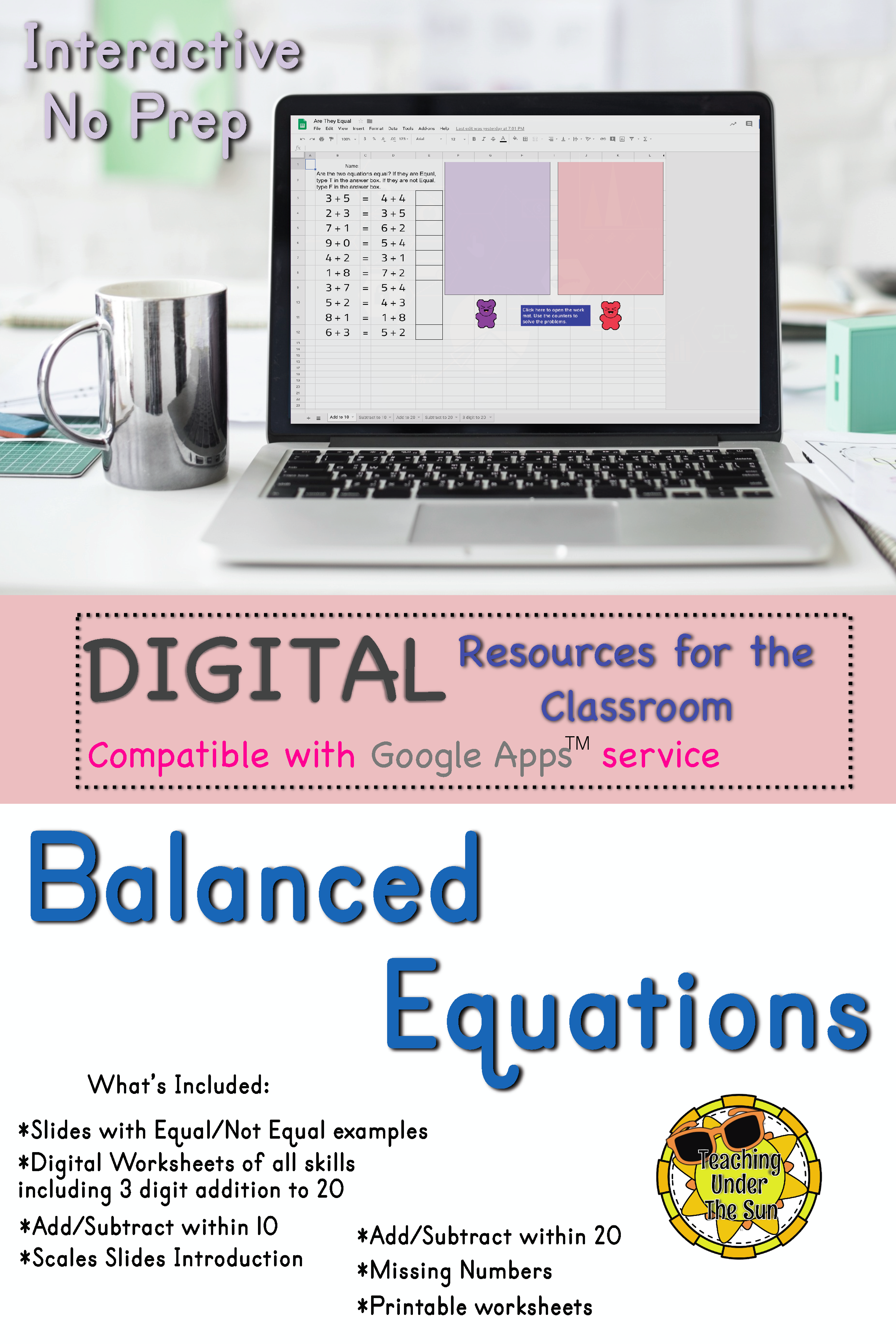 hight resolution of Balance Equation and Equal Equation Digital