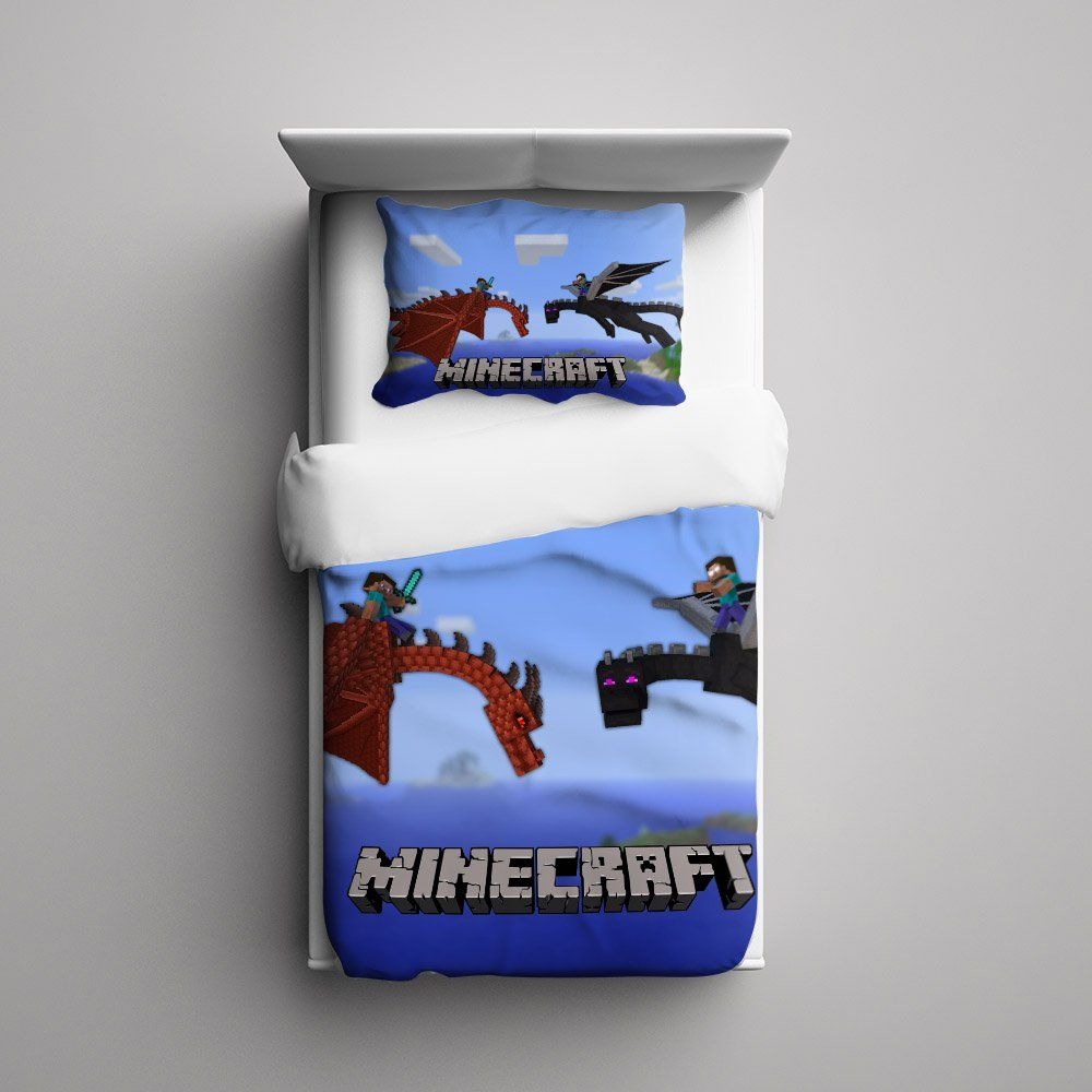 #60+Minecraft+Creeper+Dragon+Custom+Fleece+Blanket/+Pillow+Case+Bed+Set+Bedding+Single/+Twin