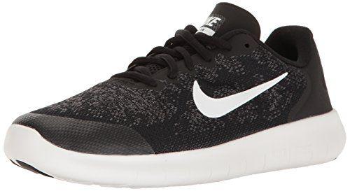 Nike Kids Free Rn 2017 (GS) BlackWhite Dark Grey Running