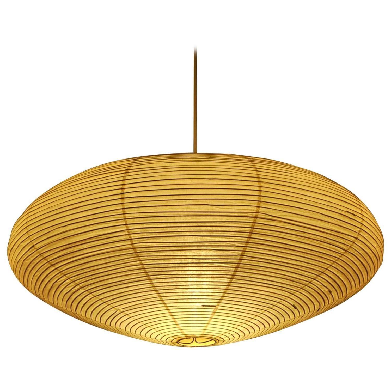 Oval 39 Akari 39 Hanging Lamp By Isamu Noguchi For Akari