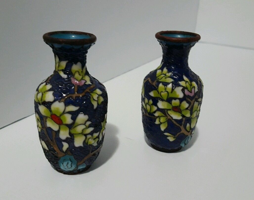 Antiques gifts pair of two 2 antique chinese 19th century antiques gifts pair of two 2 antique chinese 19th century miniature cloisonne reviewsmspy