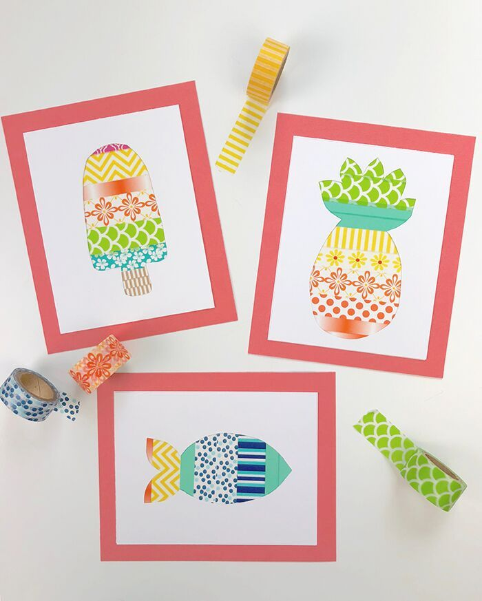 Summer Boredom Hit The Kids Yet? Looking For Some Fun Summer Crafts For Kids? Check Out This Adorable Washi Tape Craft For Kids!