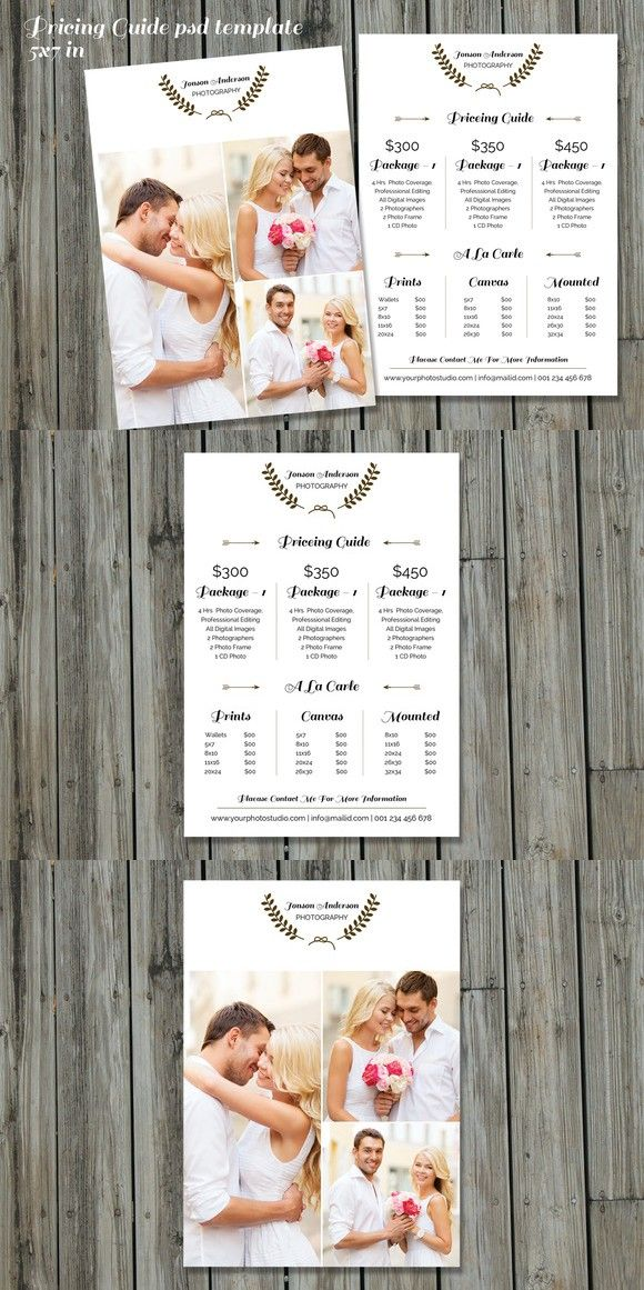 Price List Templates Photography Price List Templatev234  Pinterest  Photography Price .