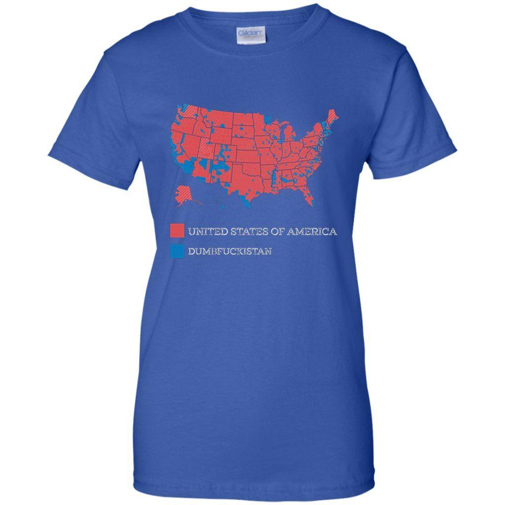Dumbfuckistan TShirt United States Of America Map Shirt Products - Tee shirt us map dumbfuckistan