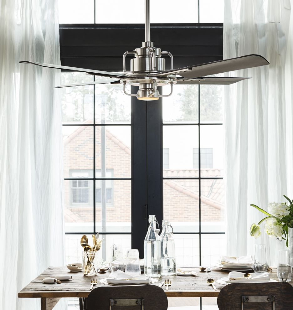 Industrial Style Dining Room Design The Essential Guide: Peregrine Industrial LED Ceiling Fan