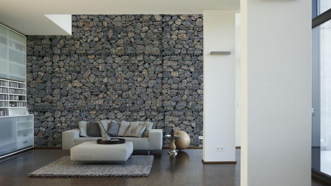 Architects Paper Fototapete Gambion (XXL) 470434; simuliert auf der Wand