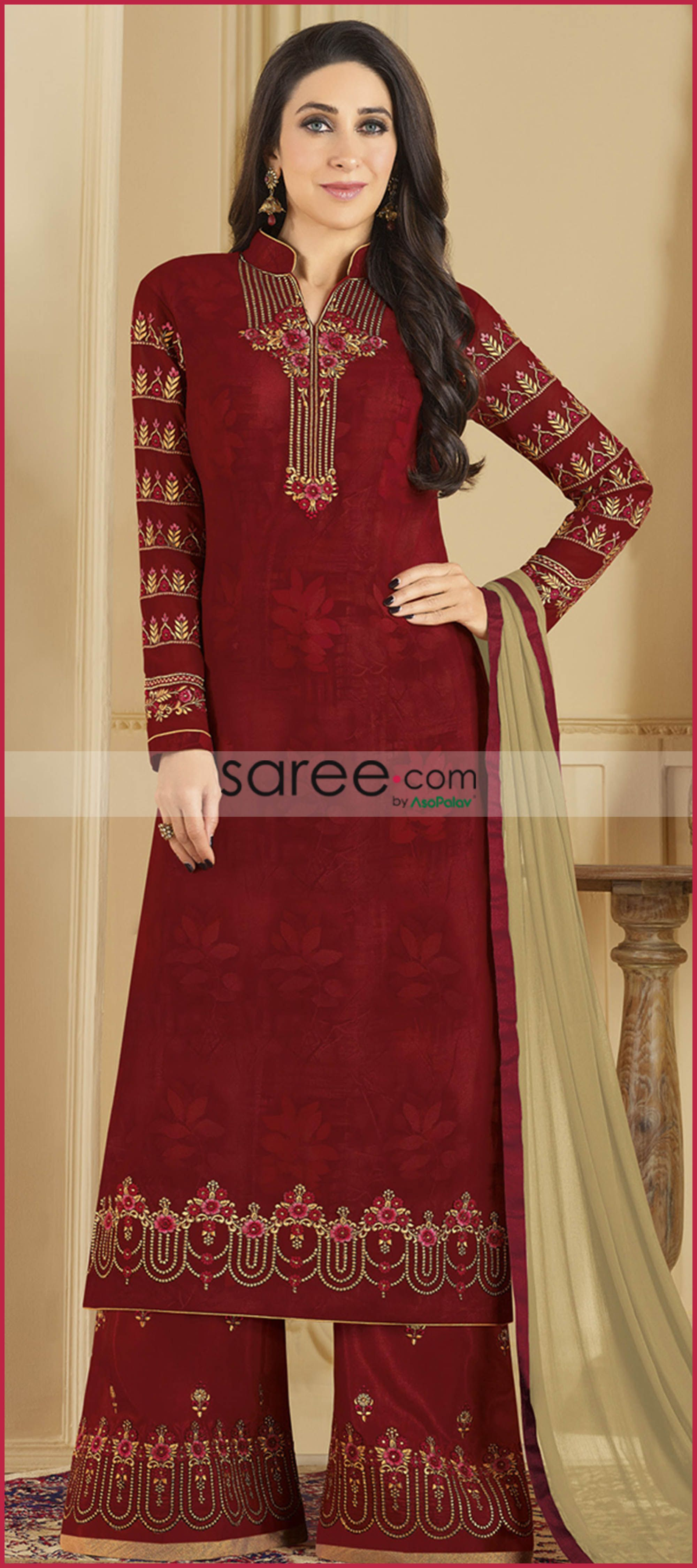 03d9333a65c Maroon Palazzo suit