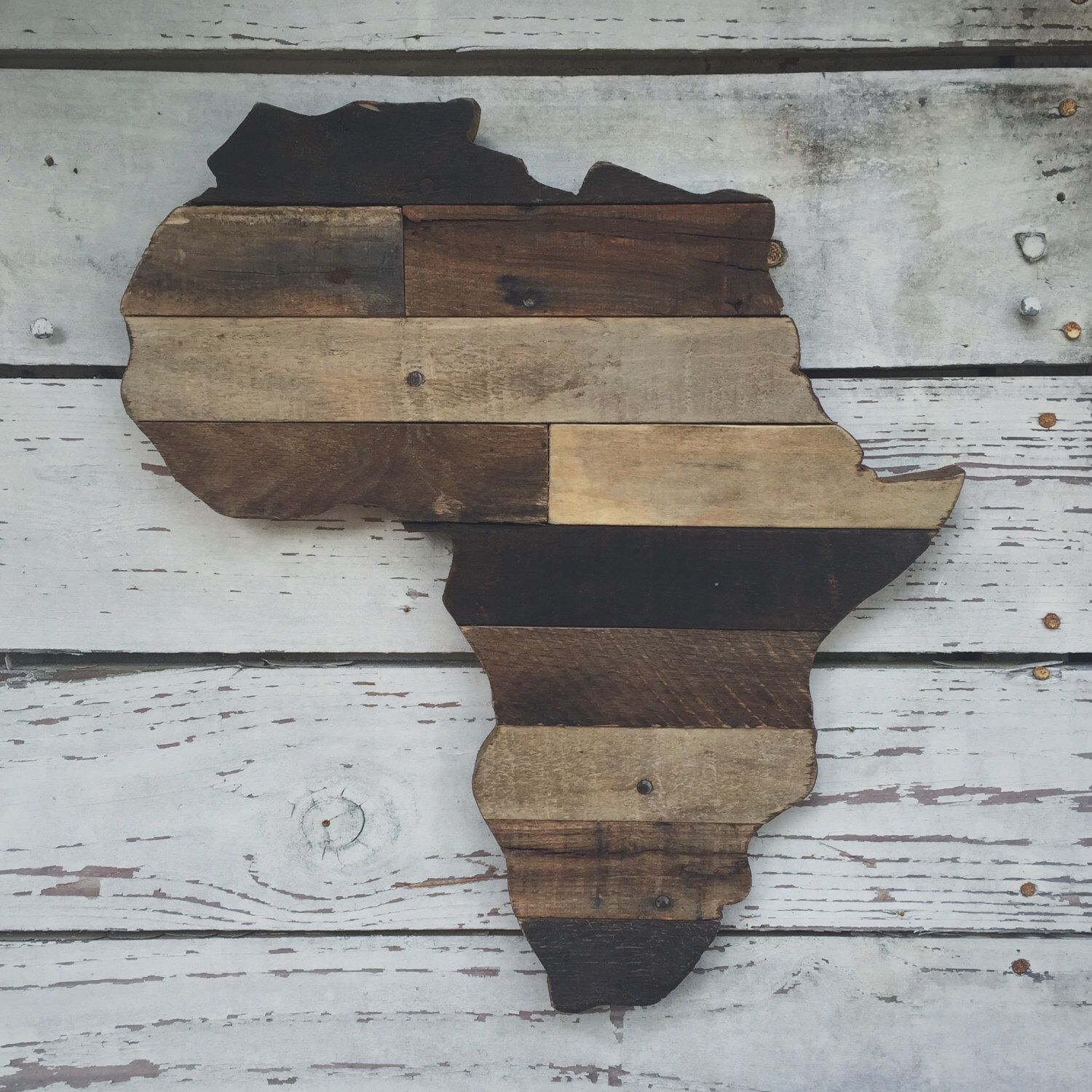 Africa Sign Africa Art Africa Decor Africa Rustic Wood Cut Out Rustic Home Decor