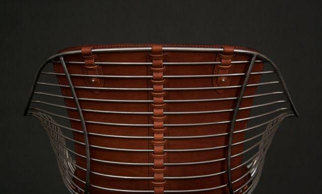 Designer Möbel aus Metall – bequeme Sitzgruppe mit Lederspolsterung ...