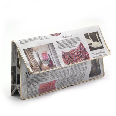 The News Clutch Bag from the V.
