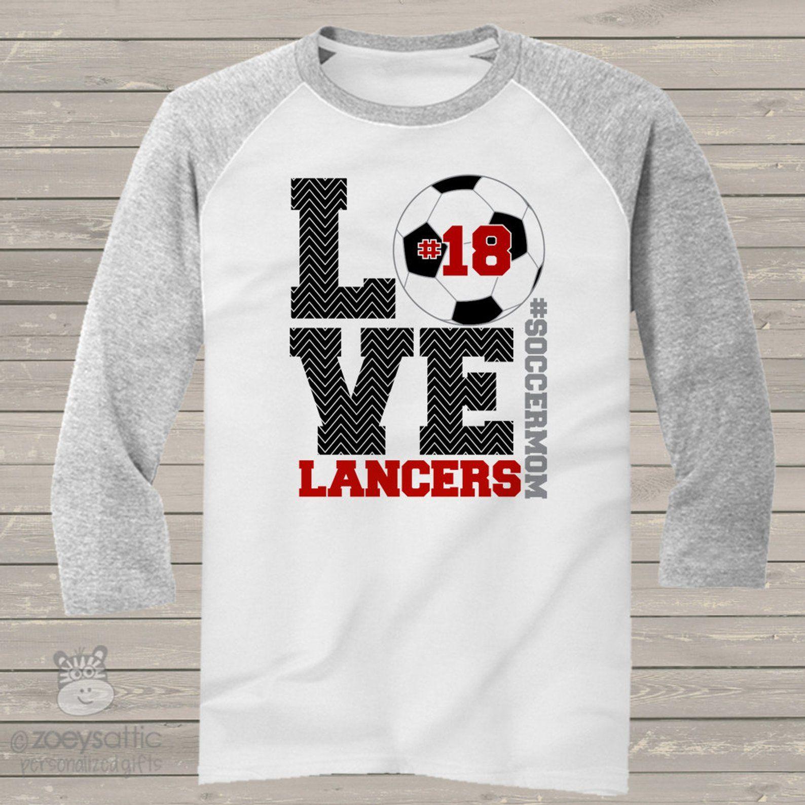 5a982091 Soccer mom chevron LOVE three quarter sleeve ADULT raglan | Etsy Team  Names, Baseball Shirts