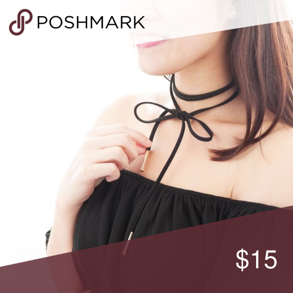 Necktie choker Black and gold Jewelry Necklaces