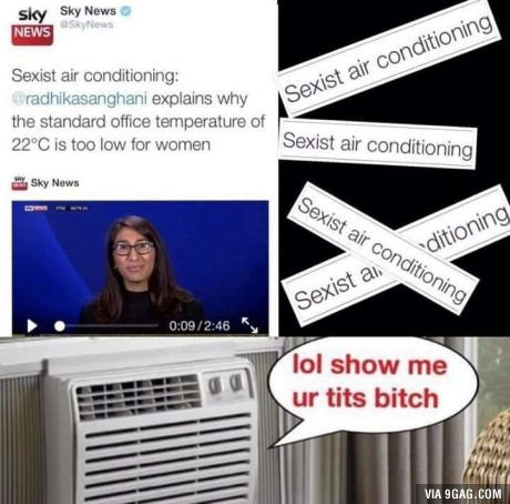Shame On You Air Conditioner Sarcasm Meme Memes Funny Memes