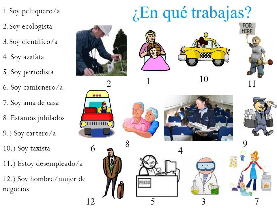 En Qué Trabajas Espagnol Apprendre Enseignement Espagnol