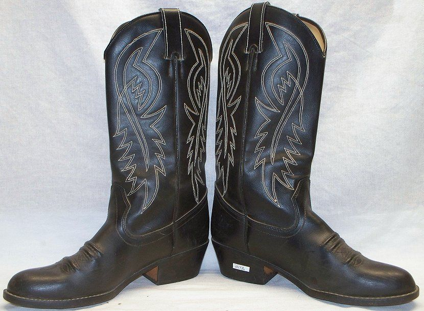 d50c5c3585d9 Men s Used Worn RAMRODS Cowboy Boots - 11 - Black Manmade Materials   29.99  End Date  Wednesday Oct-31-2018 7 50 58 PDT Buy It Now for…