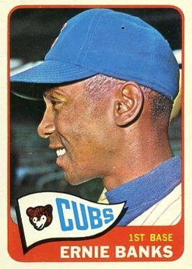 1965 Topps Ernie Banks 510 Baseball Card Value Price Guide Baseball Cards Old Baseball Cards Baseball Card Values