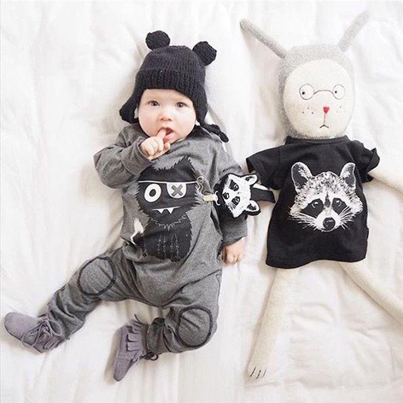 a730079f3ea8 Cute Cartoon Newborn Boy Rompers Newborn baby boy clothes