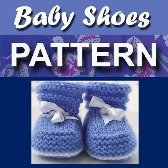Easy Baby Booties PDF KNITTING PATTERN (1-3, 3-6 and 6-12 months)