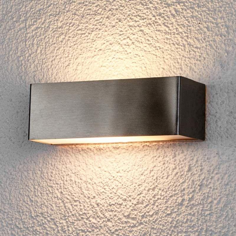 Buitenlamp Met Sensor Gamma.Led Buitenwandlamp Alicja Van Roestvrij Staal Buitenwandlampen In