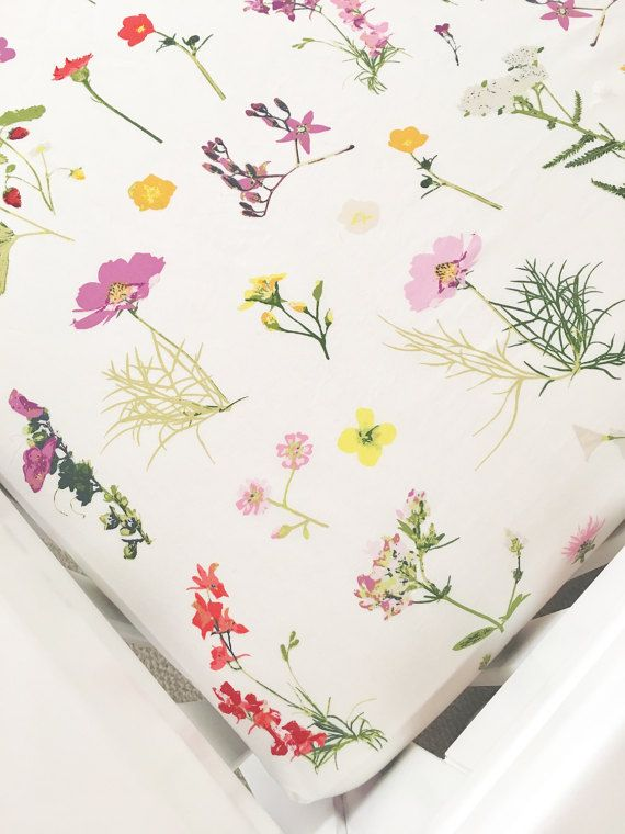 100/% premium cotton Fitted Crib Sheet for Baby Girl Nursery floral designer fabric