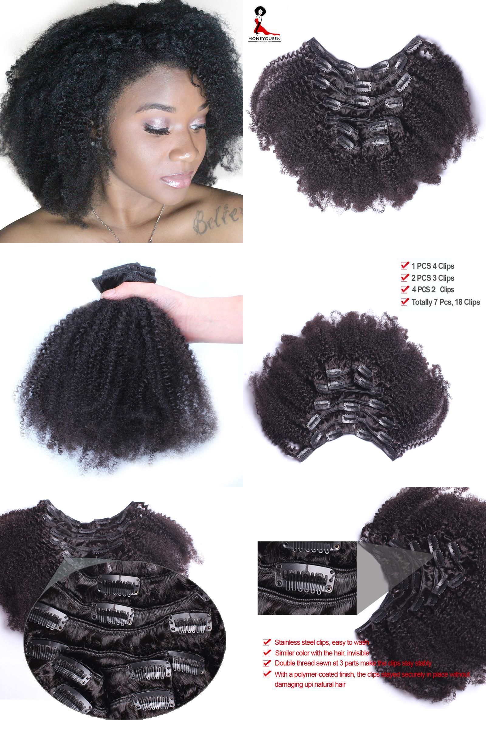 Visit To Buy Clip In Human Hair Extensions 4b 4c Afro Kinky Curly
