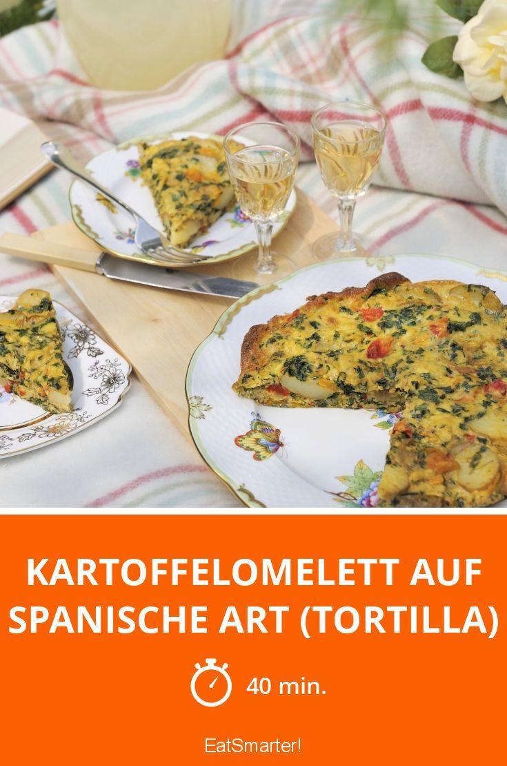 Kartoffelomelett auf spanische art tortilla rezept - Eier kochen zeit ...
