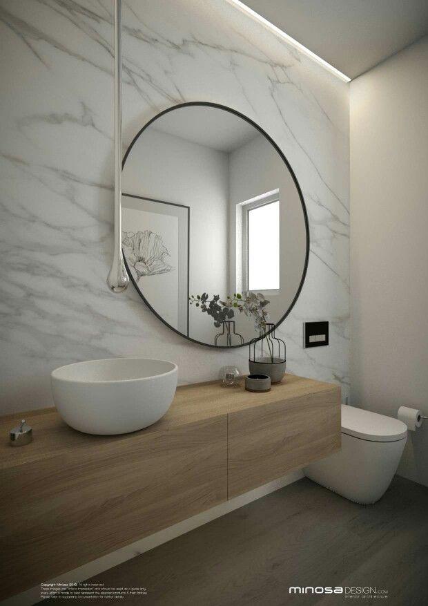Baño minimalista  Madera b7ed9e69de40