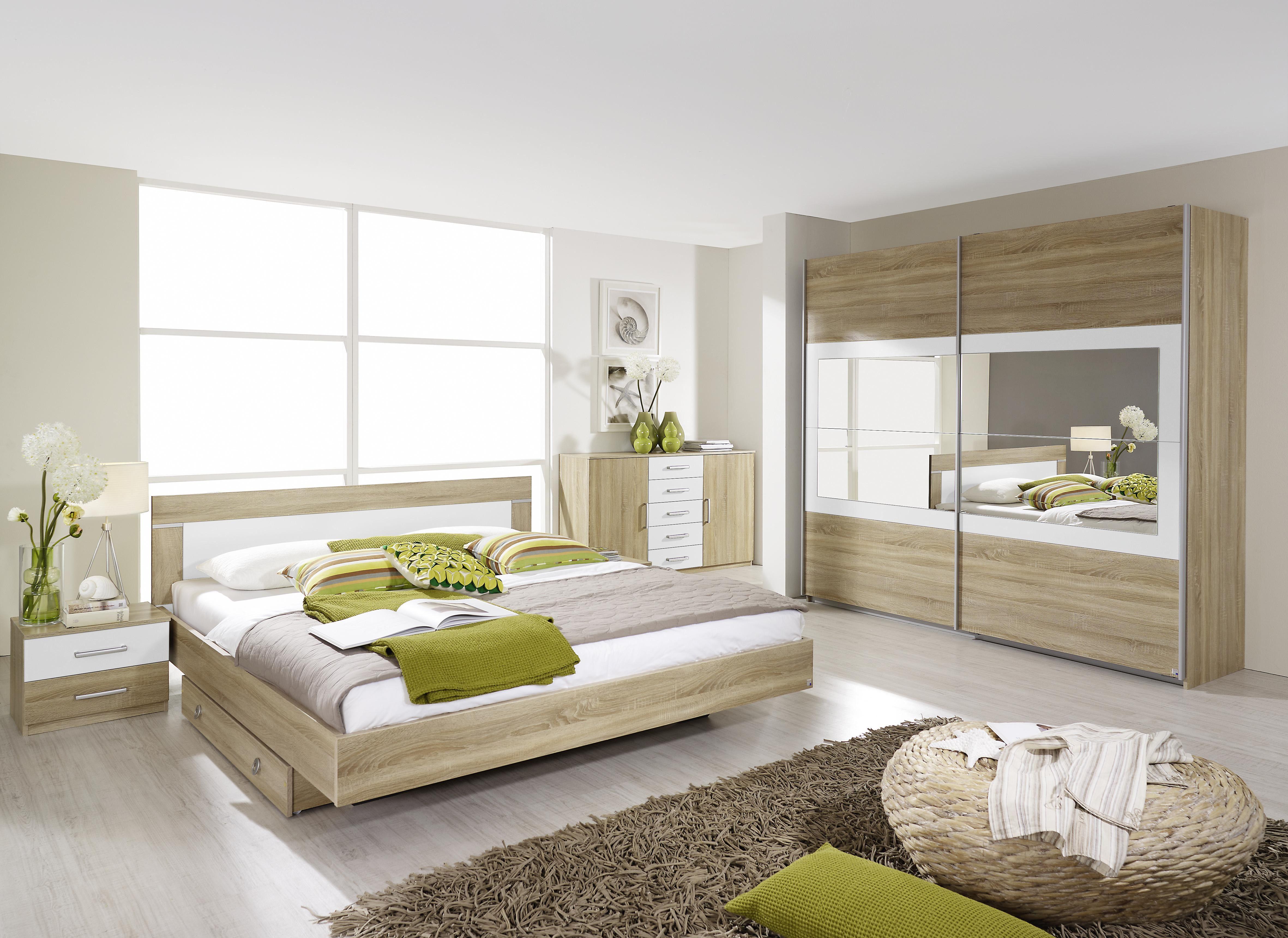 Eiche Schlafzimmer ~ Schlafzimmer mit bett cm eiche sonoma weiss jetzt