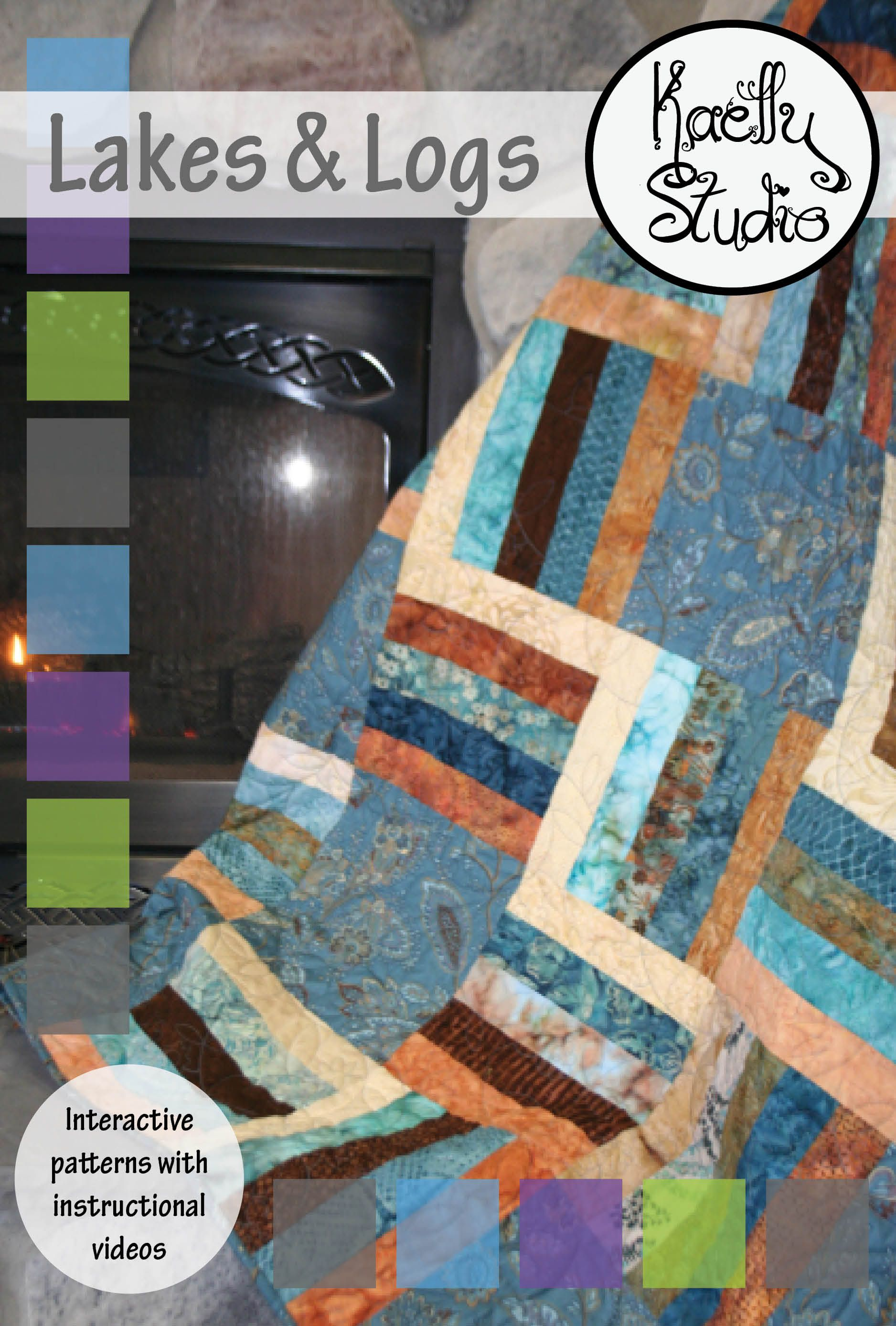 Kaelly Studio's second quilt pattern, Lakes & Logs. Download it free!!!