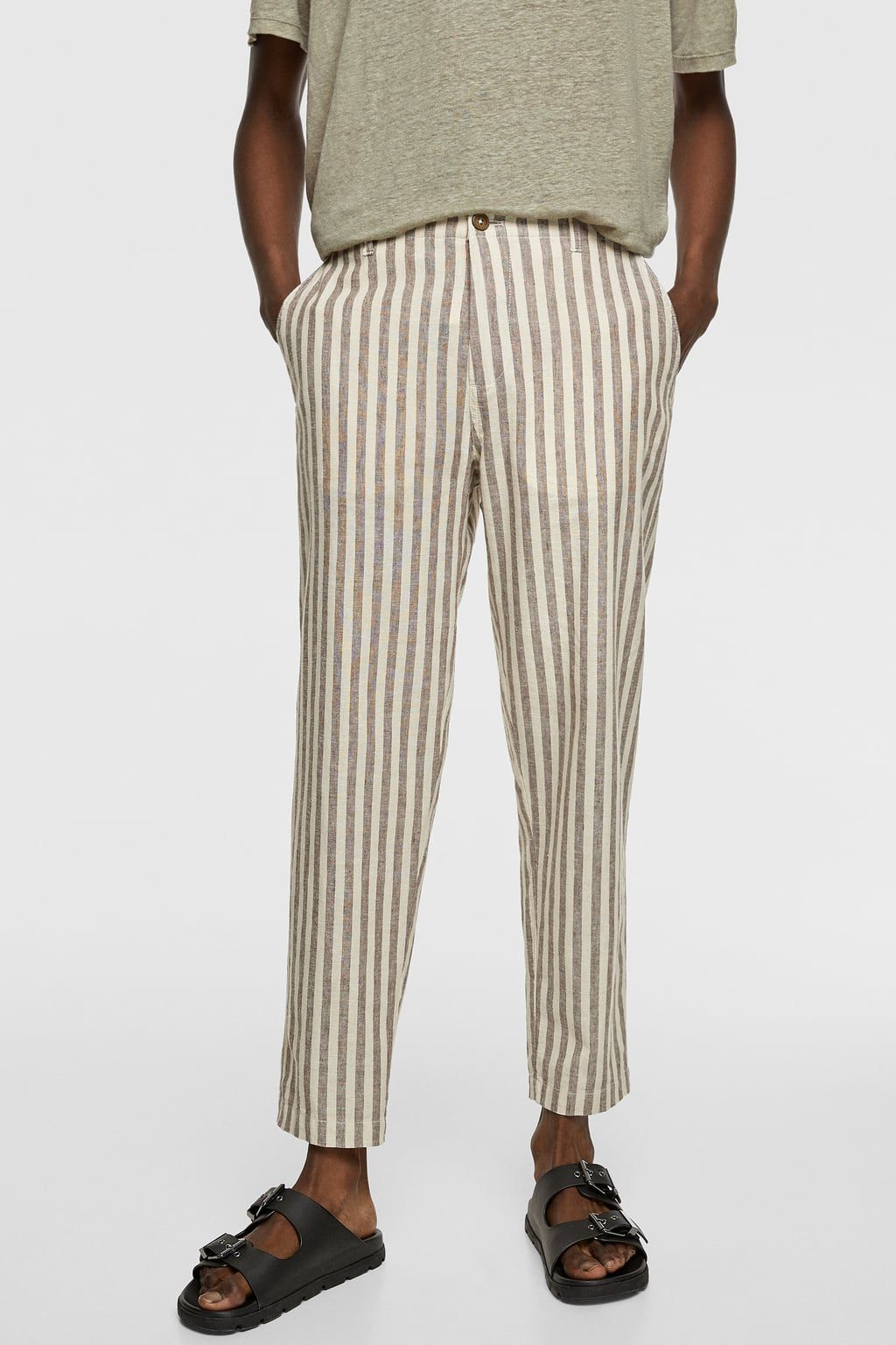 Pantalon Rustico Rayas Ultima Semana Hombre Zara Mexico Pantalones Casuales Casual Hombre Pantalones